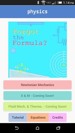 Forgot the Formula: Physics