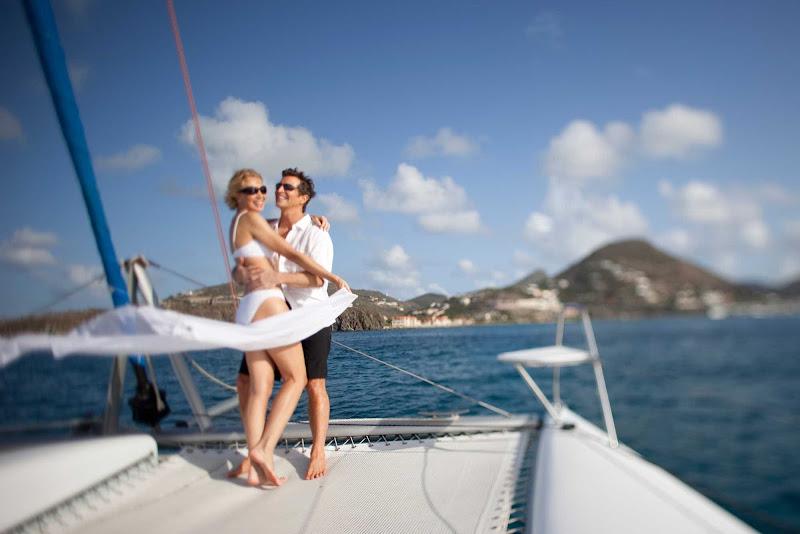 Catamaran tour of St. Maarten.
