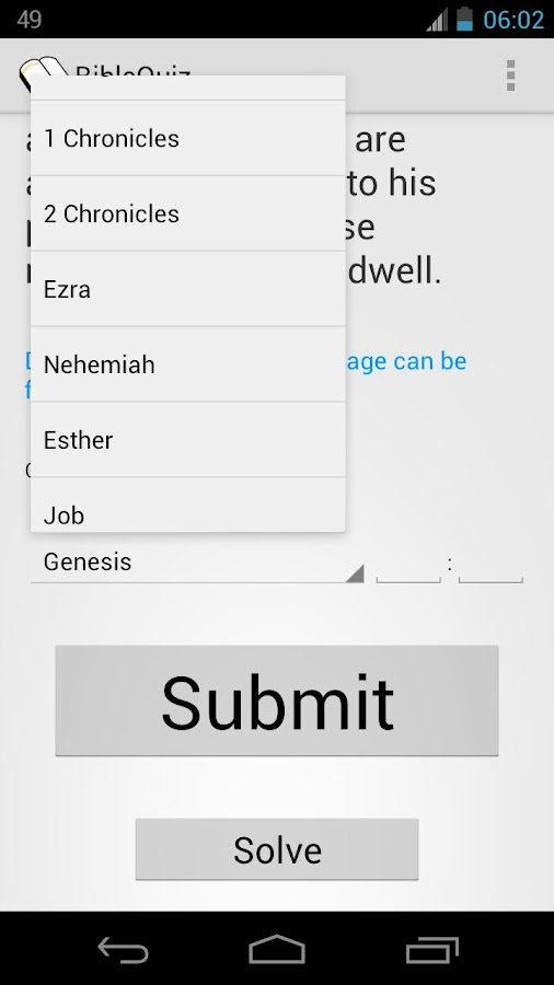 BibleQuiz- screenshot