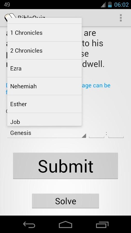 BibleQuiz - screenshot