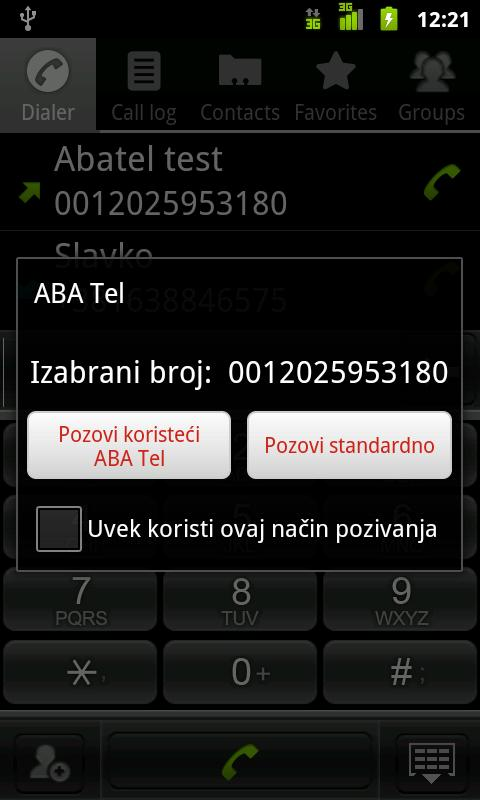 ABA tel - screenshot