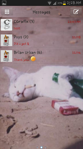 Bad Kitty Theme for Go SMS Pro