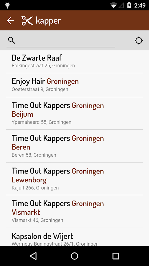 Kapper- screenshot