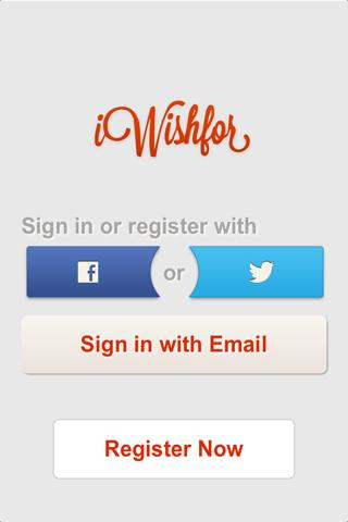 iWishFor - Wish List- screenshot