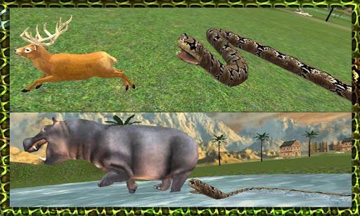 野生蟒蛇蛇攻击辛