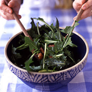 Dandelion Salad with Lardons