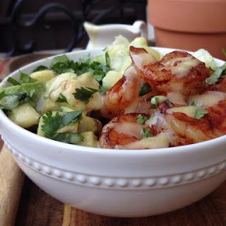 Shrimp and Avocado Salad with Miso Dressing