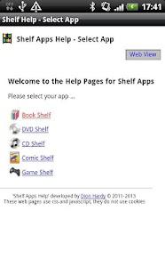 Shelf Apps Offline Help