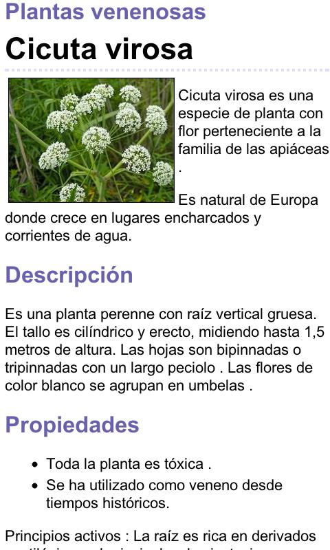 Plantas Venenosas - screenshot