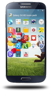 Galaxy S4 HD Icon pack theme - screenshot thumbnail