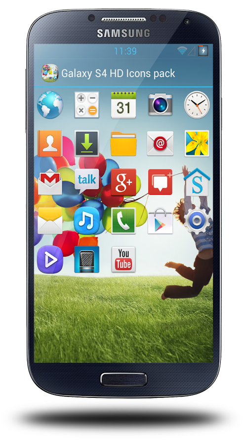 Galaxy S4 HD Icon pack theme - screenshot