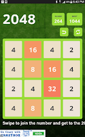 Screenshot of 2048 Number Puzzle Game
