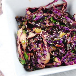 Asian Red Cabbage Salad.
