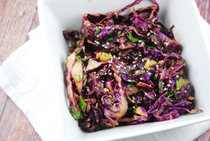 Asian Red Cabbage Salad Recipe