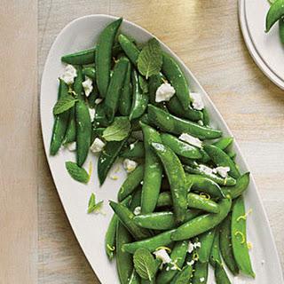 Sautéed Snap Peas with Ricotta Salata and Mint