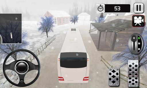 겨울 투어 버스 시뮬레이터