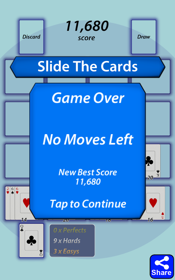 Slide The Cards- screenshot