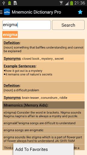 Mnemonic Dictionary Pro