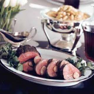 Beef Tenderloin with Red-Wine and Marrow Sauce.
