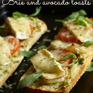 Brie And Avocado Toasts.