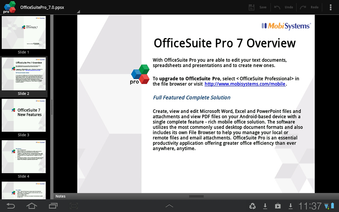 OfficeSuite Pro 7 (Trial) - screenshot