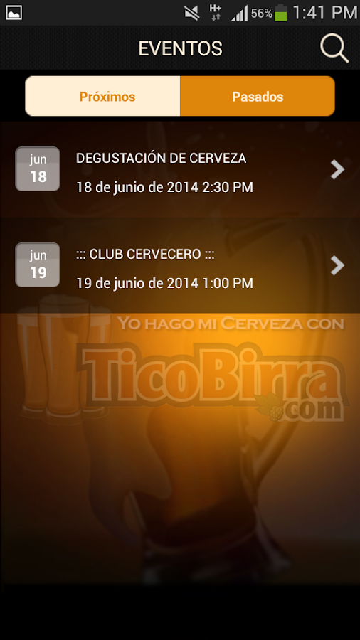 TicoBirra- screenshot