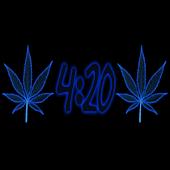 Pot Leaf 420 Blue Keyboard