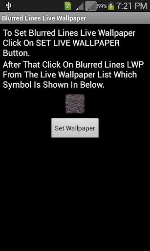 Blurred Lines Live Wallpaper