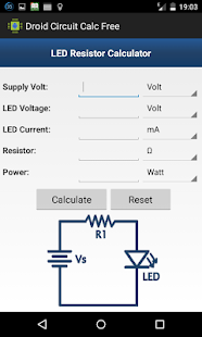 Droid Circuit Calc Free - náhled