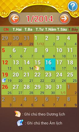 Lich Van Nien - Lịch VN 2016 7.5 screenshot 334424