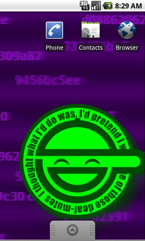 Laughing Man Live Wallpaper - screenshot