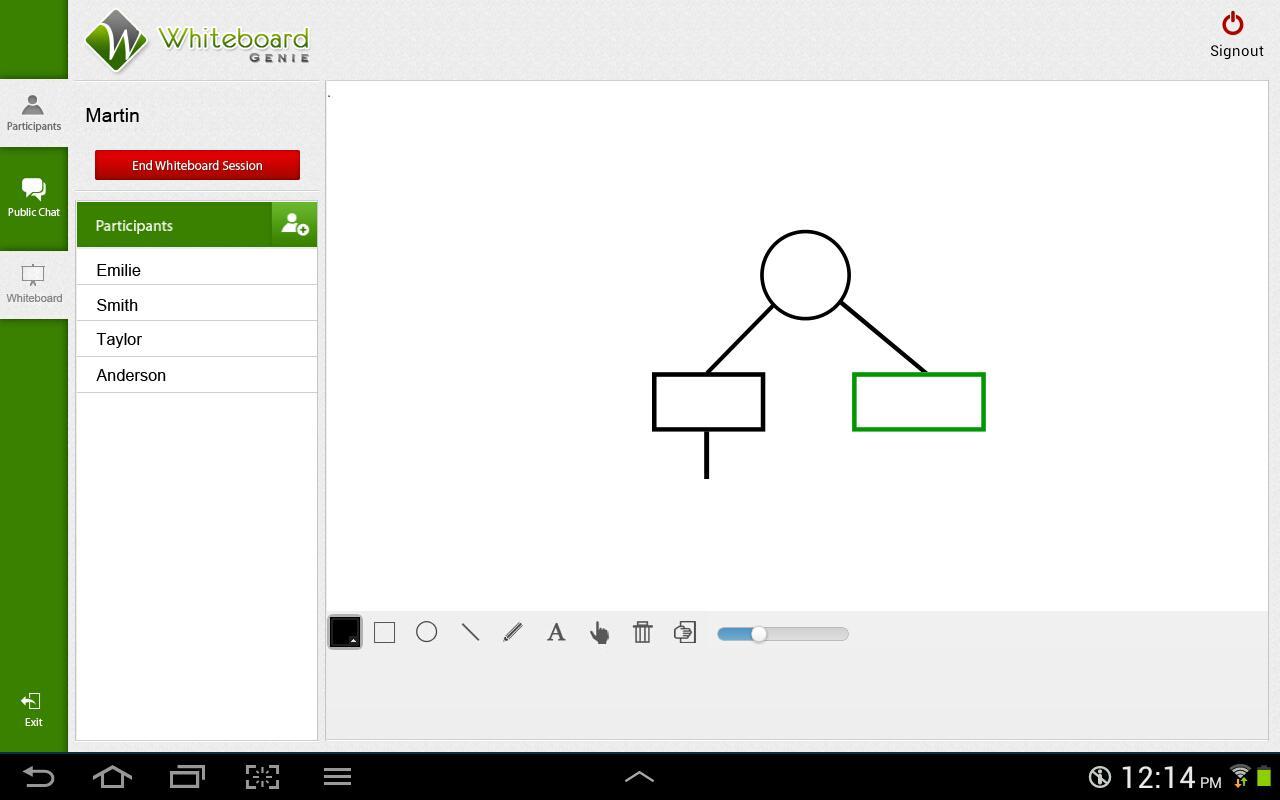 Whiteboard Genie - screenshot