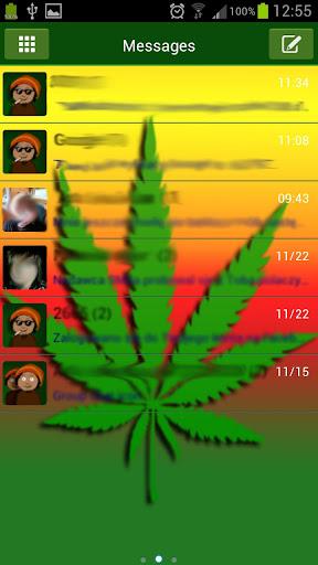 Weed Ganja Paid Go SMS THEME