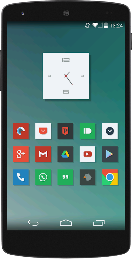 Naxos Flat Icon Pack ADW Nova - screenshot