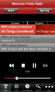 Wisconsin Public Radio App - screenshot thumbnail