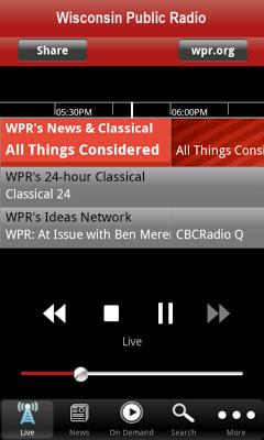 Wisconsin Public Radio App - screenshot