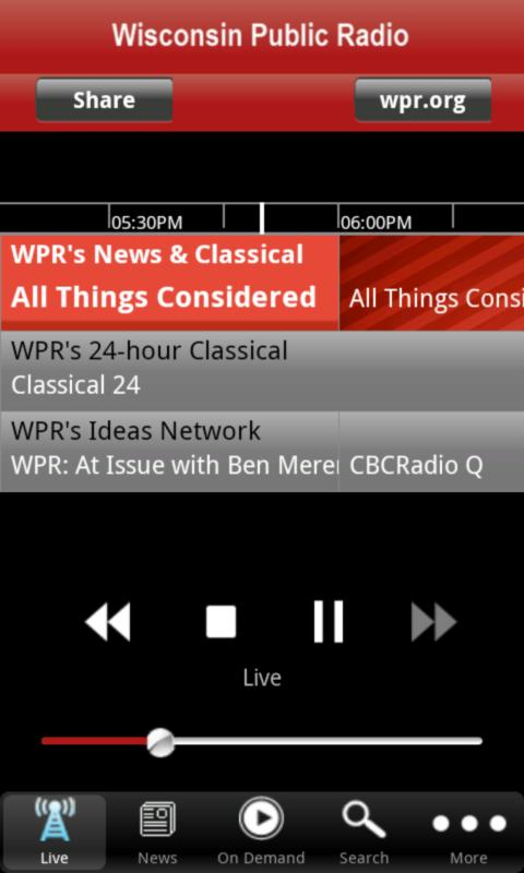 Wisconsin Public Radio App - screenshot