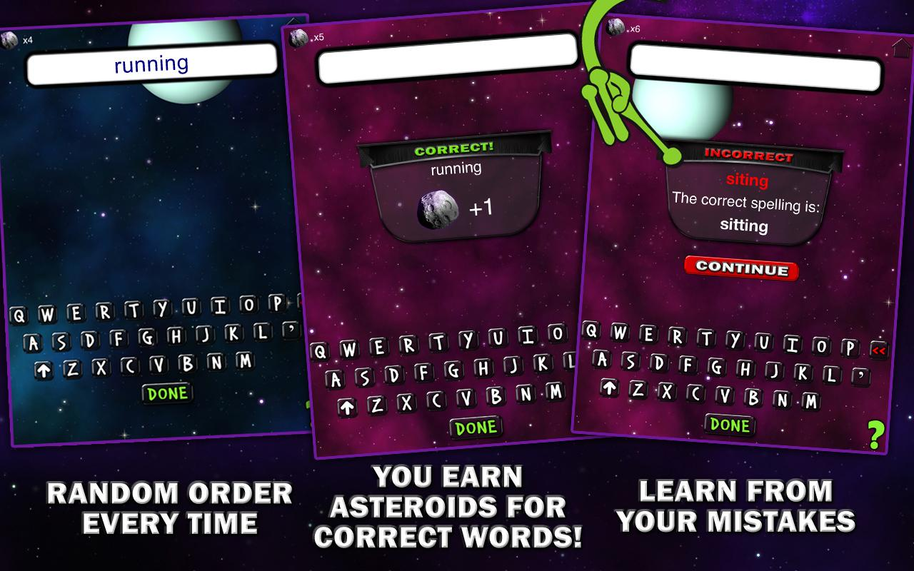Spelling Space - 3rd Grade - screenshot