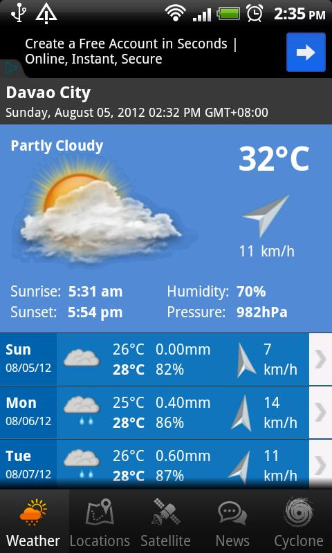 PH Weather - screenshot