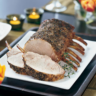 Herb-Brined Pork Prime Rib Roast