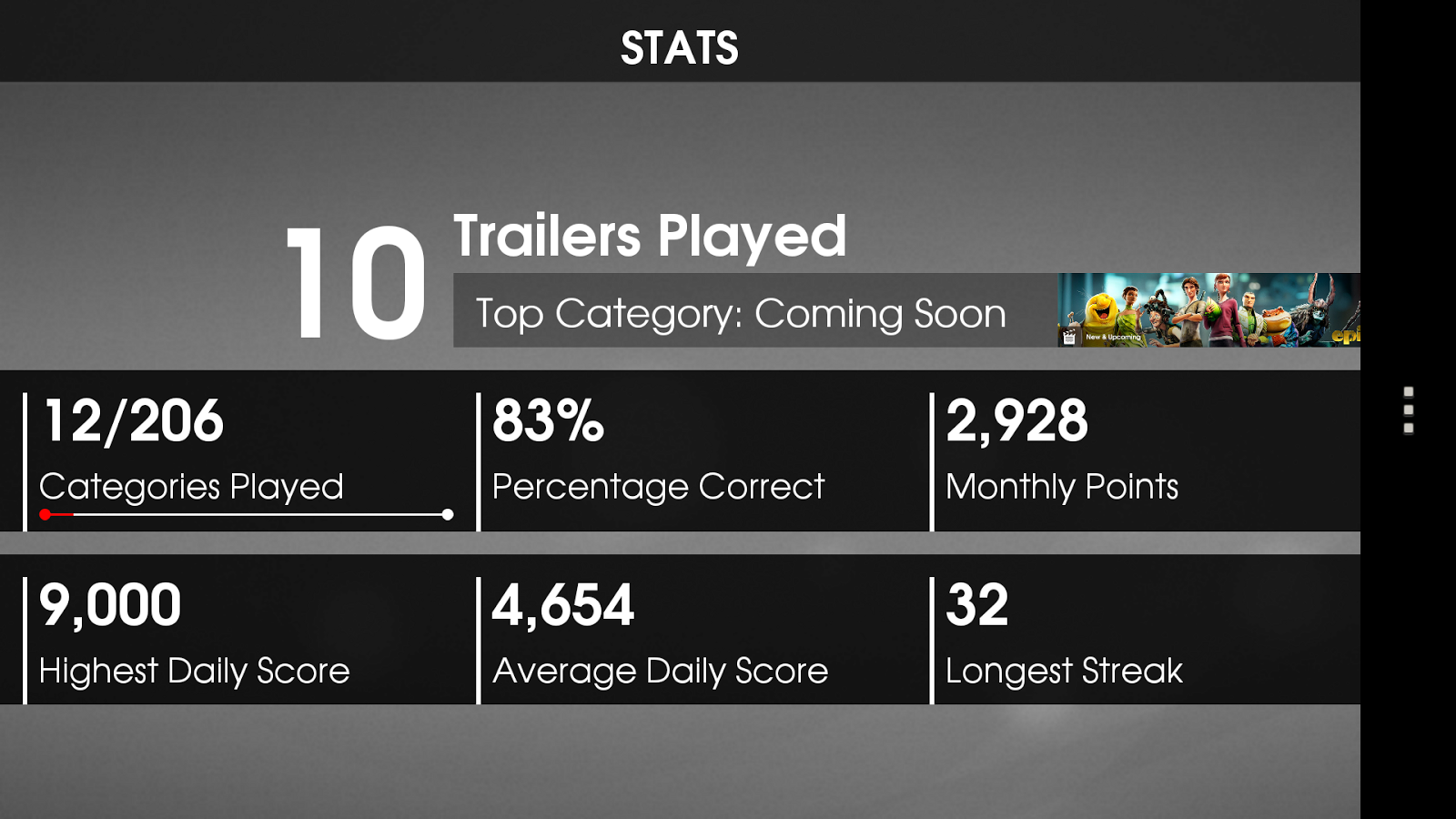 Trailerpop: Trailers & Trivia - screenshot