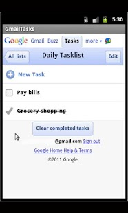 Gmail Tasks - screenshot thumbnail