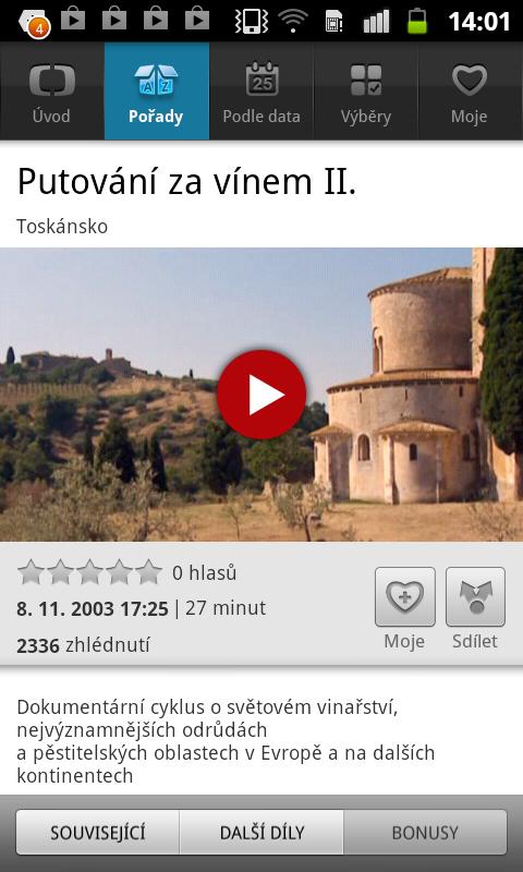 iVysílání České televize- screenshot