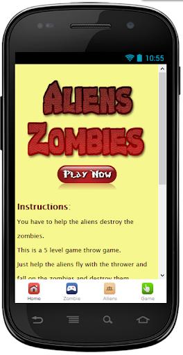 Aliens Destroy Zombies Free