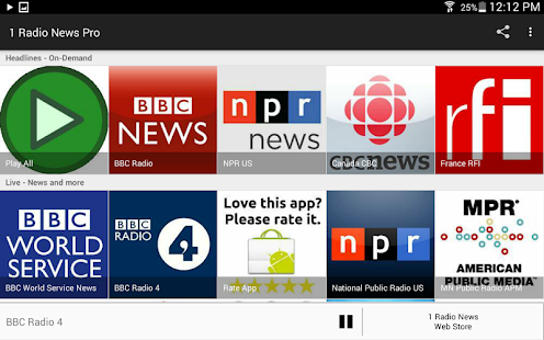 1 Radio News Pro: More Features and Shows, No Ads- screenshot thumbnail
