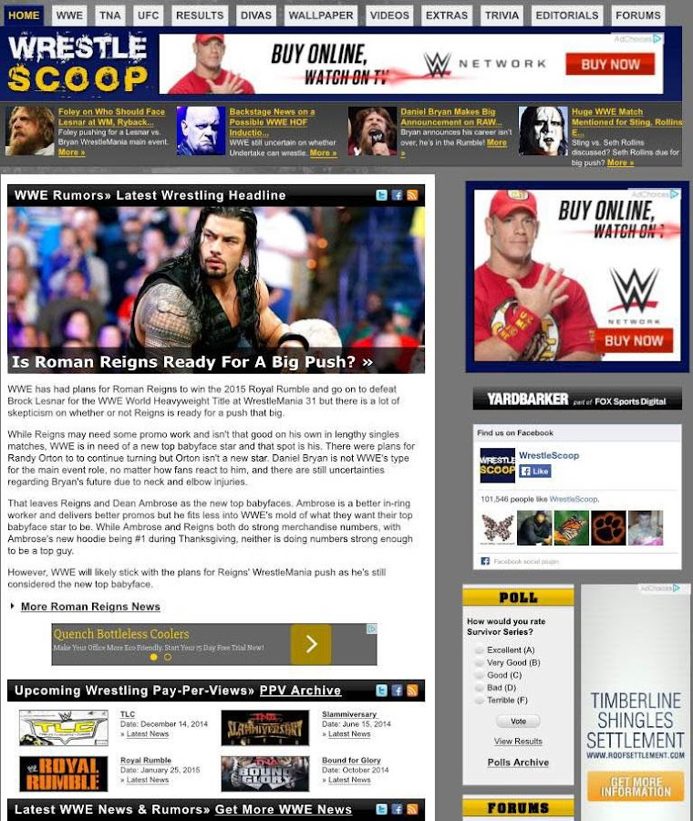 WrestleScoop- screenshot