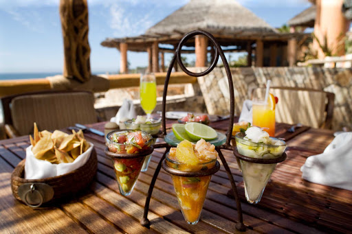 Cabo-San-Lucas-ceviche - Hungry yet? Five types of ceviche and chips in Cabo.
