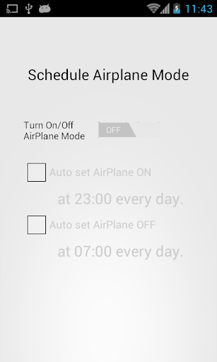 Schedule Airplane Mode