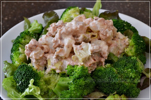 Artichoke and jicama tuna salad tuna salad with lettuce - Ensalada de arroz light ...