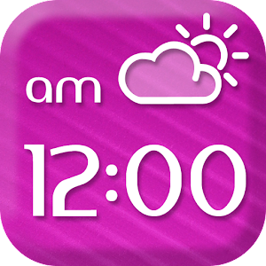 Pink Forecast and Clock App for Android